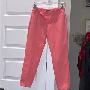 Light pink cropped dress pants